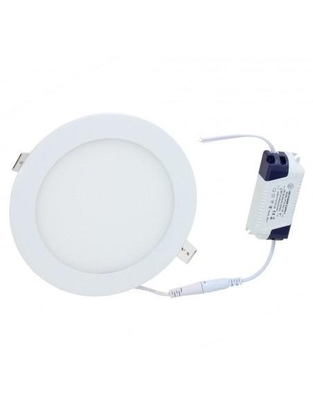 Įleidžiama LED panelė - 12W apvali - neutrali balta 4500K