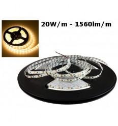 LED juostelė 2835 - 20W/m - 120SMD/m IP20 - 3000K