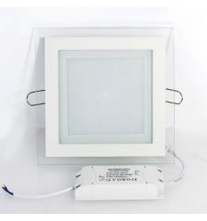 Įleidžiama LED panelė su stiklu - 6W kvadratas neutrali balta 4500K