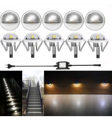 LED laiptų šviestuvai - Mini Mond Cink