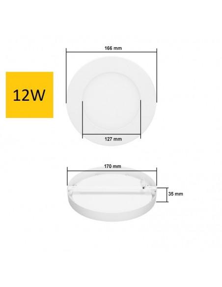 Virštinkinė LED panelė - 12W apvali