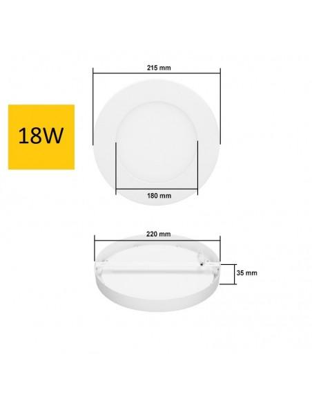 Virštinkinė LED panelė - 18W apvali