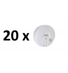 20 x Dūmų detektorių FIREX + 5 metų ličio baterija
