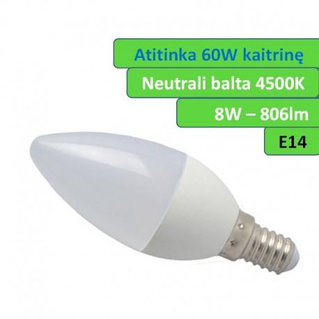 E14 - 8W - LED lemputė