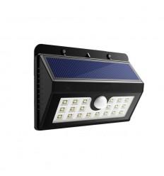 Saulės baterijų LED lauko šviestuvas su judesio davikliu