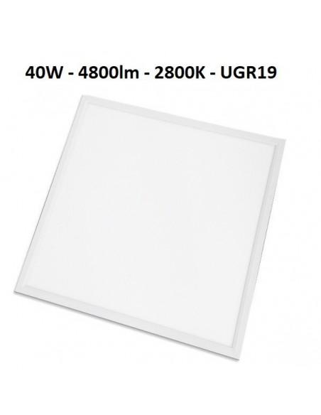 LED panelė armstrong luboms 60x60cm - 40W - 4800lm - 2800K - UGR19