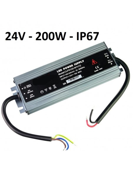 LED maitinimo šaltinis SLIM 200W - 24V - IP67 - Profesionalus