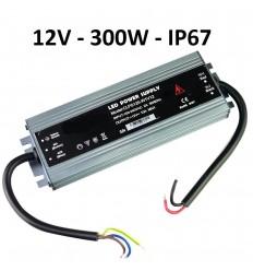 LED maitinimo šaltinis SLIM 12V - 300W - 12V - IP67