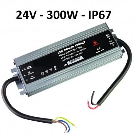 LED maitinimo šaltinis SLIM 300W - 24V - IP67