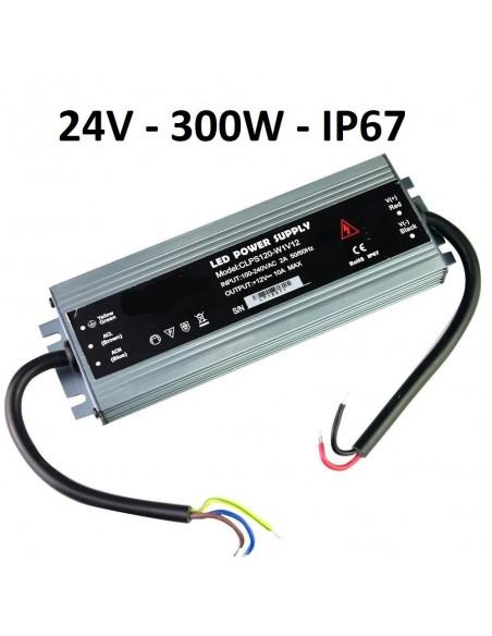 Profesionalus LED maitinimo šaltinis SLIM 24V - 300W - IP67