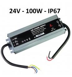 LED maitinimo šaltinis SLIM 24V - 100W - IP67
