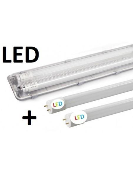 120cm - hermetinis šviestuvas + 2 x LED T8 lempos 4300lm - 4100K