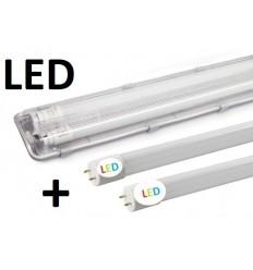 120cm - hermetinis šviestuvas + 2 x LED T8 lempos 3600lm - 6000K
