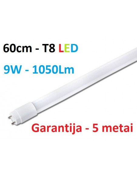 60cm - T8 LED lempa - 9W - 1050lm - 4100K