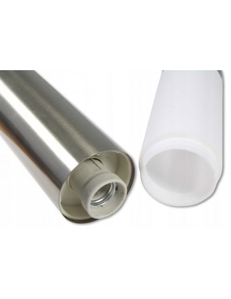 Pastatomas LED Lauko šviestuvas - Lumi Slim silver 90cm