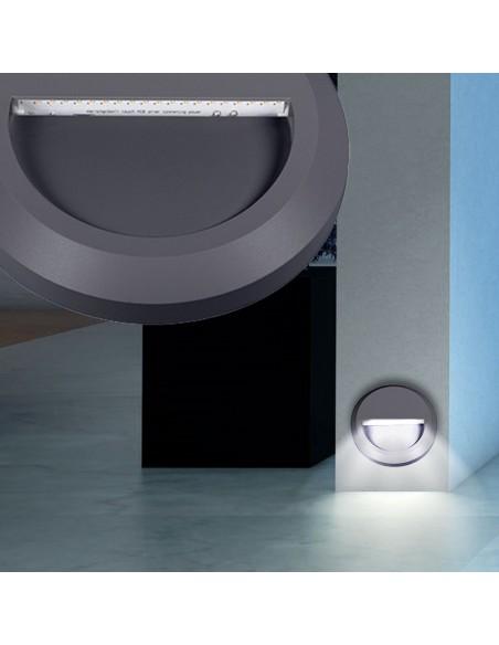 Sieninis LED šviestuvas - CROTO juodas