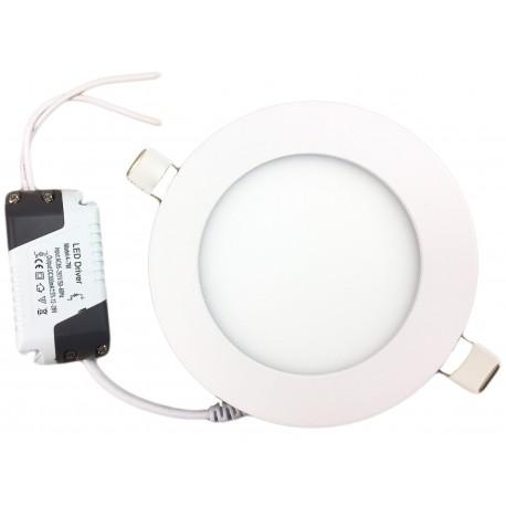 Įleidžiama LED panelė - 3W apvali šilta balta 3000K