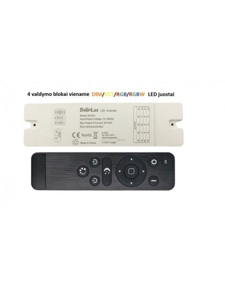LED juostos valdymo pultas - 4 viename
