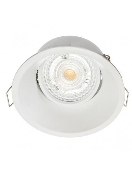 Rėmelis LED lemputei į lubas - ROMA baltas matinis reguliuojamas