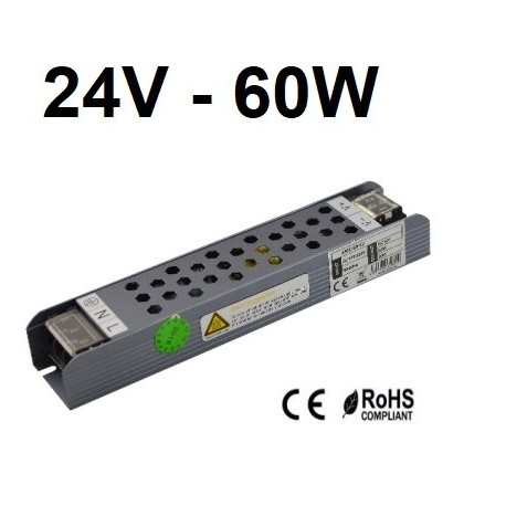 LED maitinimo šaltinis - 24V - 60W
