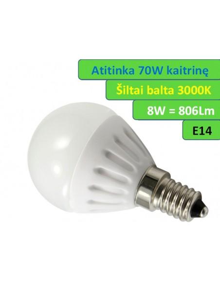 E14 - 8W - 806lm LED lemputė