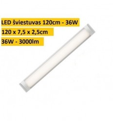 Juostinis virštinkinis LED šviestuvas 120cm - 36W - 6000K