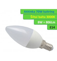 LED lemputė E14 - 8W - 806 LM