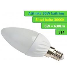 LED lemputė E14 - 6W - 630 LM