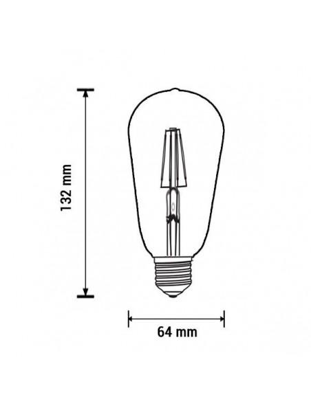 LED lemputė E27 - 4W - 400lm - ST64