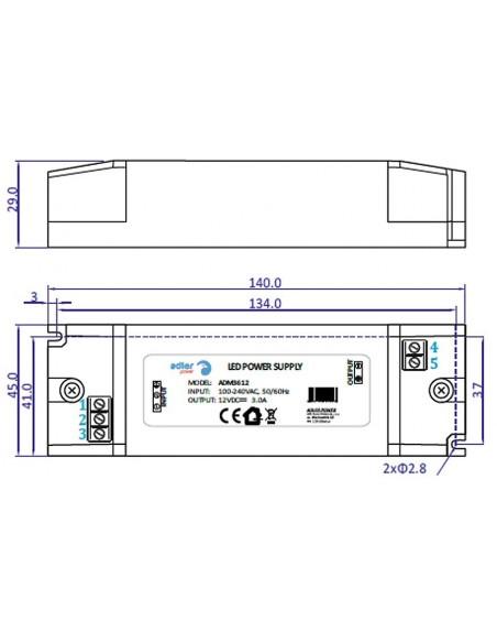 LED maitinimo šaltinis IP30 - 36W