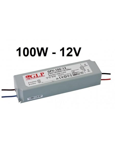 Profesionalus GPV LED maitinimo šaltinis 100W - 12V - IP67