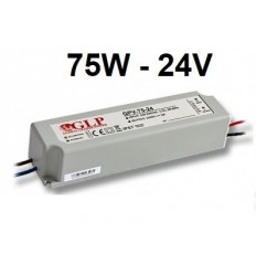 Profesionalus LED maitinimo šaltinis 24V - 75W - IP67