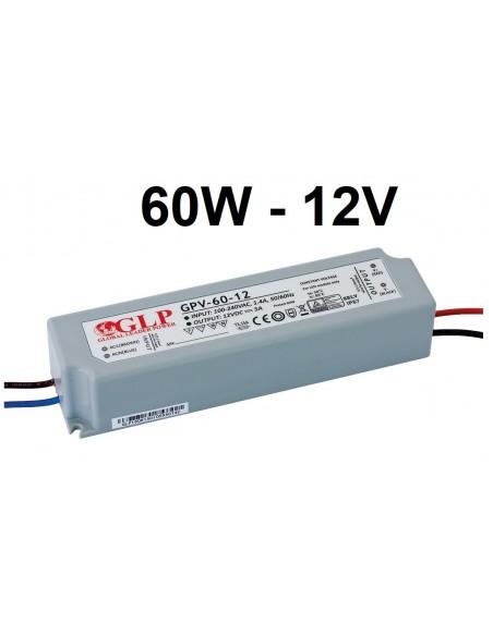 Profesionalus LED maitinimo šaltinis GPV - 60W - 12V - IP67