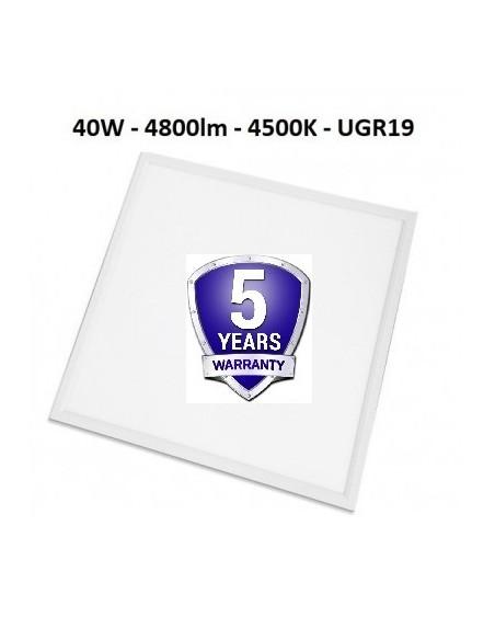 60 x 60 LED panelė 40W  - 4800lm - 5m. garatija