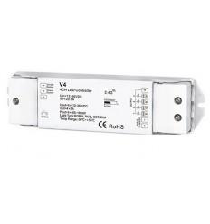 RGB / RGBW LED juostos valdiklis V4 keturių kanalų