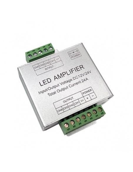 RGBW LED juostos stiprintuvas 4 x 6A