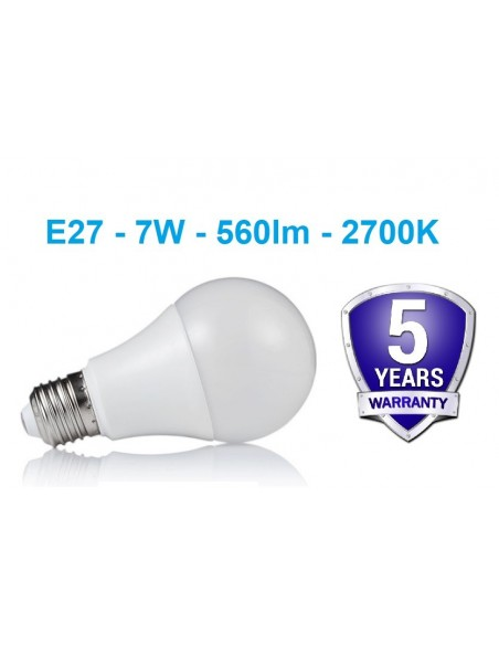 E27 - 7W - 560lm