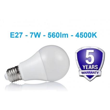E27 - 7W - 560lm LED lemputė