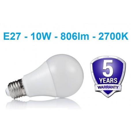 LED lemputė E27 - 10W