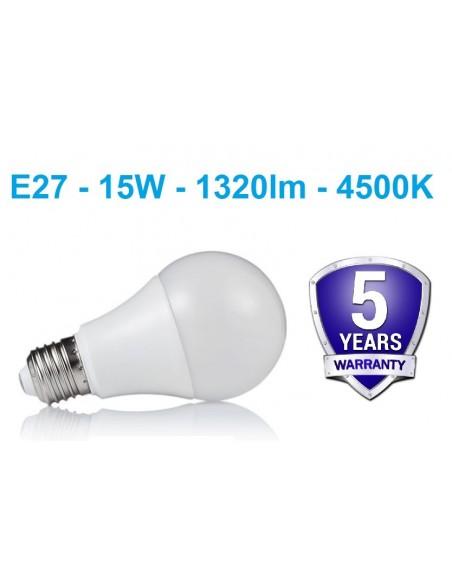 LED lemputė E27 - 15W neutrali balta