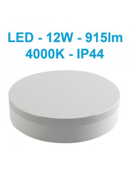 LED šviestuvas su judesio davikiu - 12W - 4000K - IP44