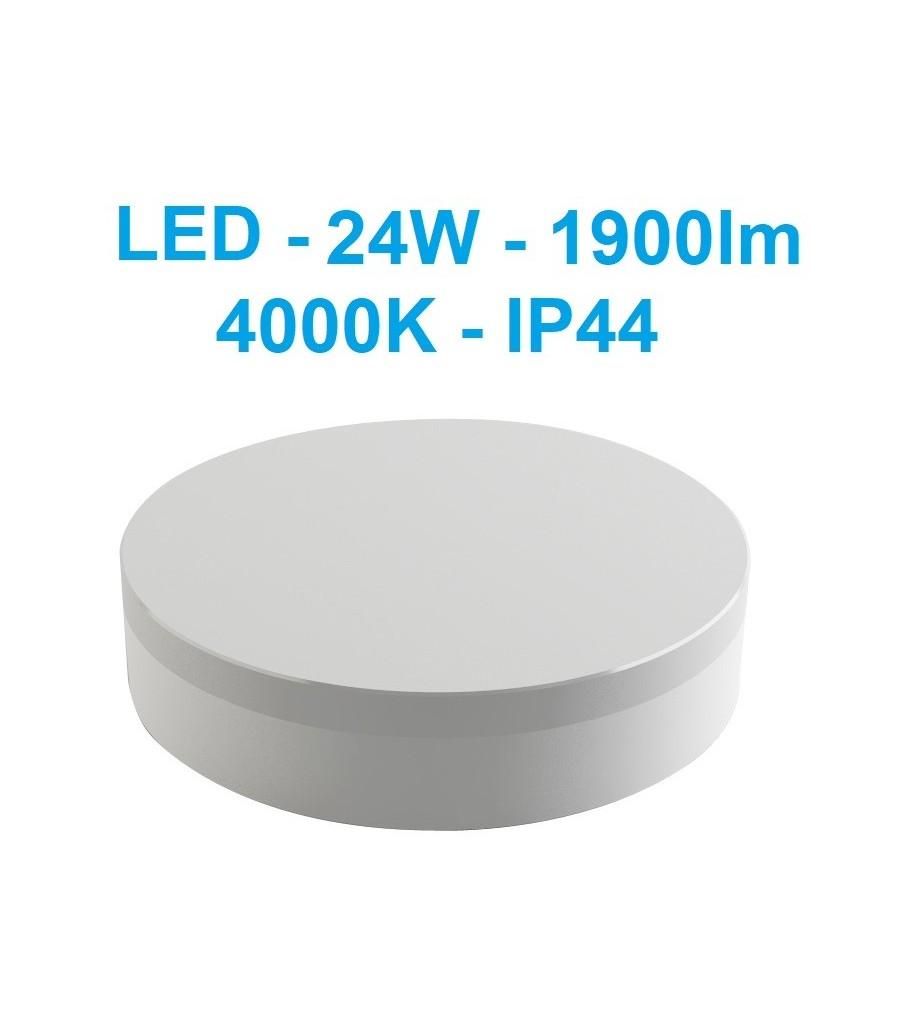 LED šviestuvas - 24W - 4000K - IP44