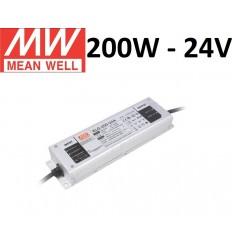 Profesionalus Mean Well LED maitinimo šaltinis ELG-200W-24V