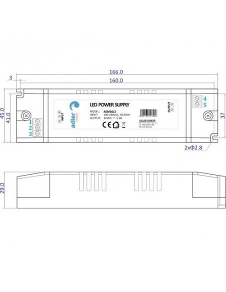 60W - 12V - LED maitinimo šaltinis IP30