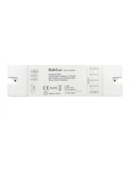 RGB / RGBW / CCT / MONO LED juostos valdiklis keturių zonų