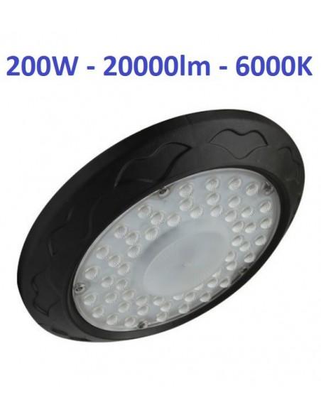 200W LED industrinis šviestuvas UFO - 20000lm - 6000K