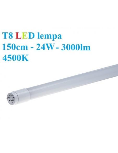 T8 LED lempa 150cm - 24W - 3000lm - 4500K