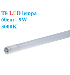T8 LED lempa 60cm - 9W - 3000K