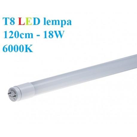 T8 LED lempa 120cm - 18W - 6000K
