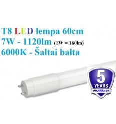 60cm - T8 LED lempa - 7W - 1120lm - 6000K